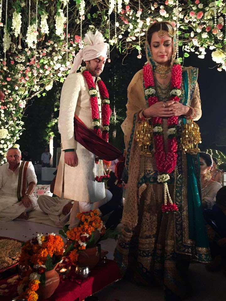 , Dia Mirza Wedding Photos with Sahil sangha