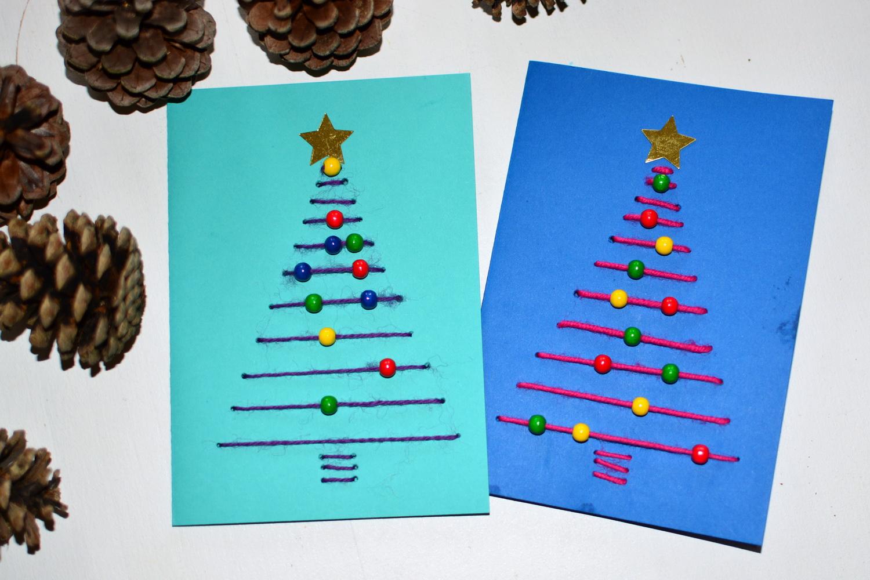 Gallerphot weihnachtskarte basteln mit kindern for Weihnachtskarten mit kindern basteln
