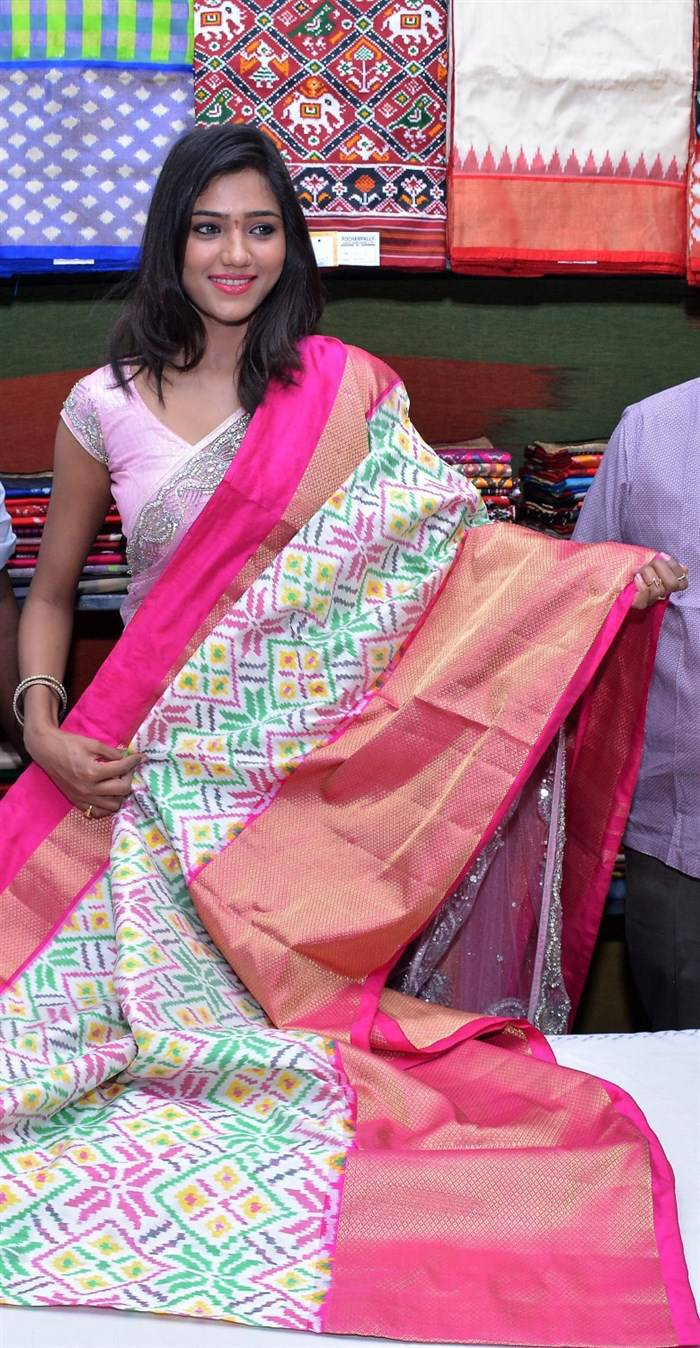 Telugu Girl Shalu Chourasiya Stills In Designer Pink Saree