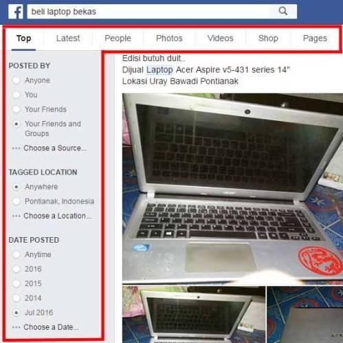 Peluang Bisnis dengan Fitur Search Facebook