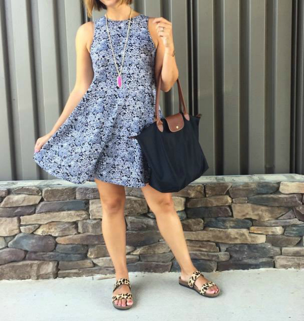 mom style, swing dress, how to pattern mix