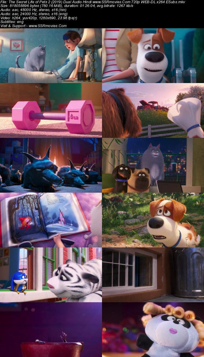 The Secret Life of Pets 2 (2019) Dual Audio Hindi 720p WEB-DL ESubs Movie Download