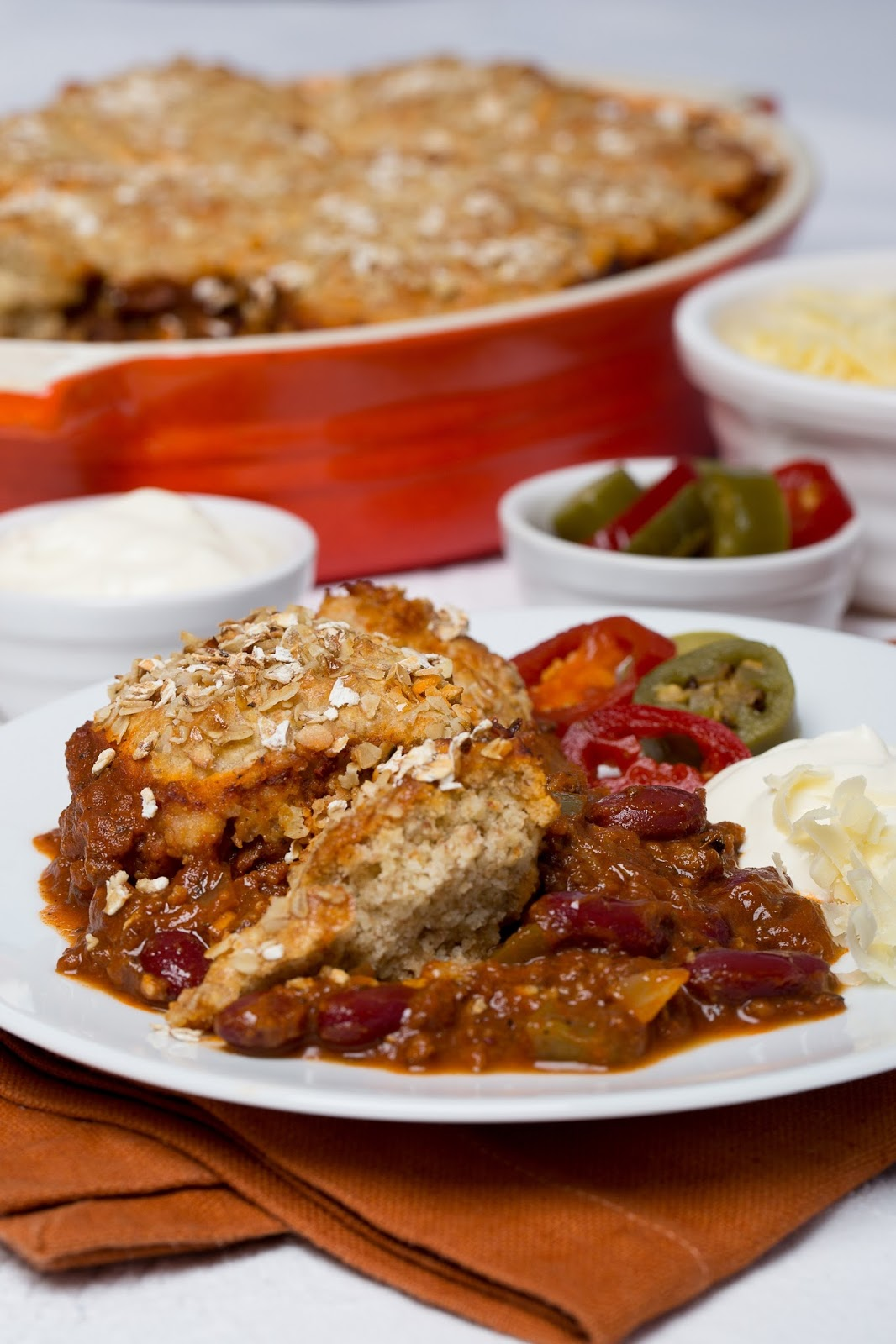How To Make Chilli Beef Oat Cobbler