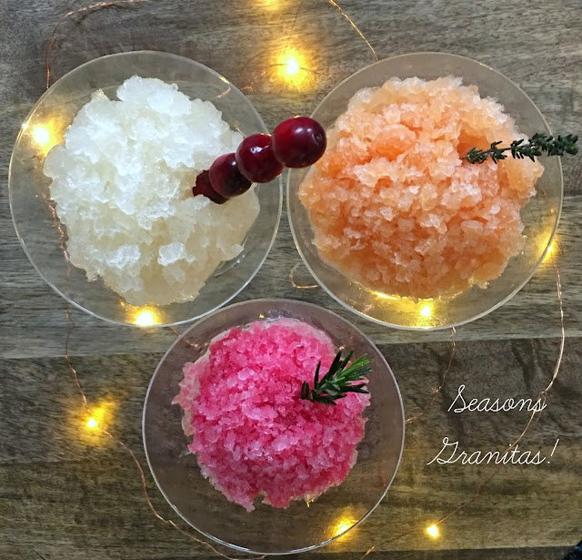 Seasons Granitas! Festive Holiday Granita Recipes, perfect Christmas Party Dessert or Cocktails | www.jacolynmurphy.com