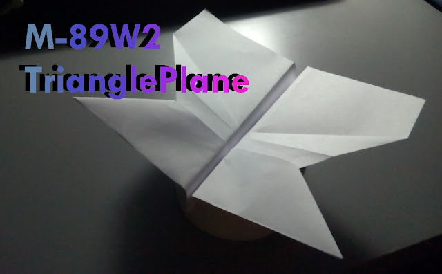 Avión de papel M-89W2 TrianglePlane