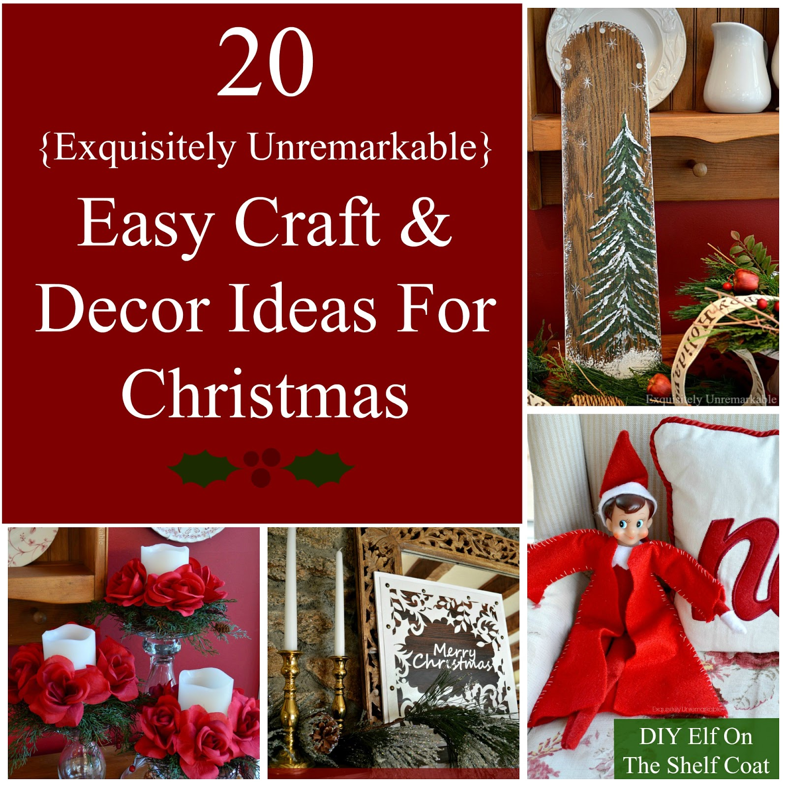 20 Easy Craft Ideas For Christmas