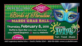 Birds of Paradise Mardi Gras Ball at LuLu's, Gulf Shores