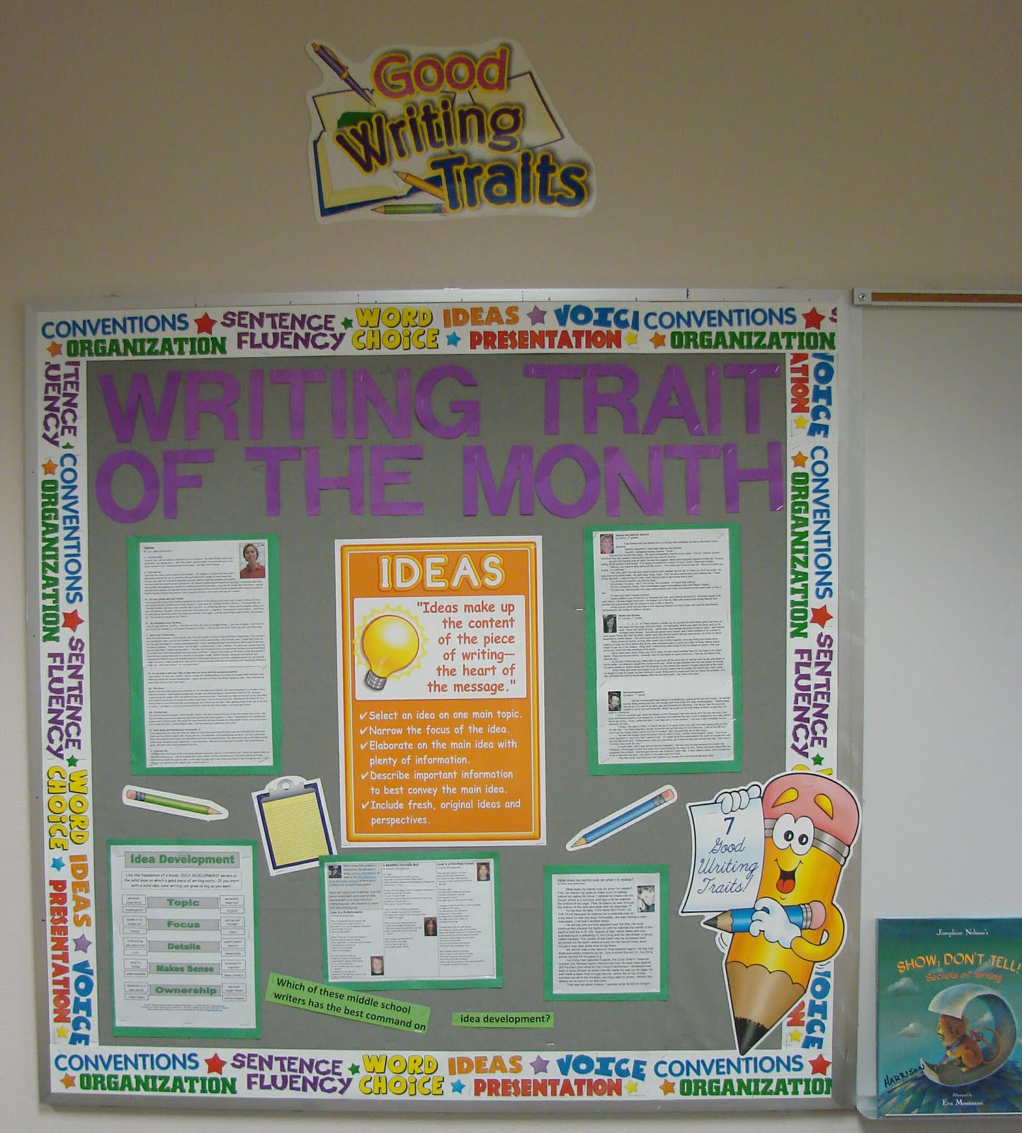 Teach Writing Right Writing Trait Of The Month Bulletin