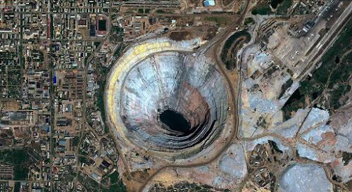 Mina de Mir, vista de satélite