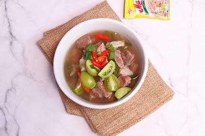 resep sup daging medah enak