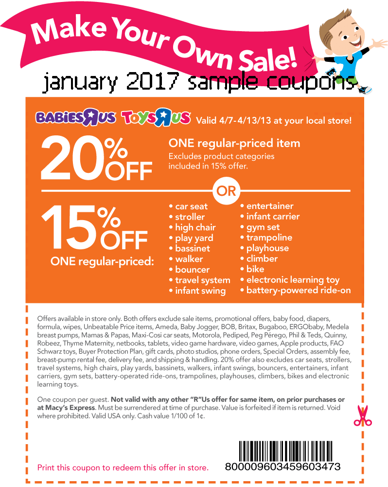 Toys r us electronic coupons