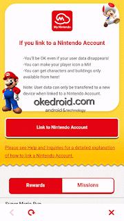 Menghubungkan Nintendo Account Super Maro Run
