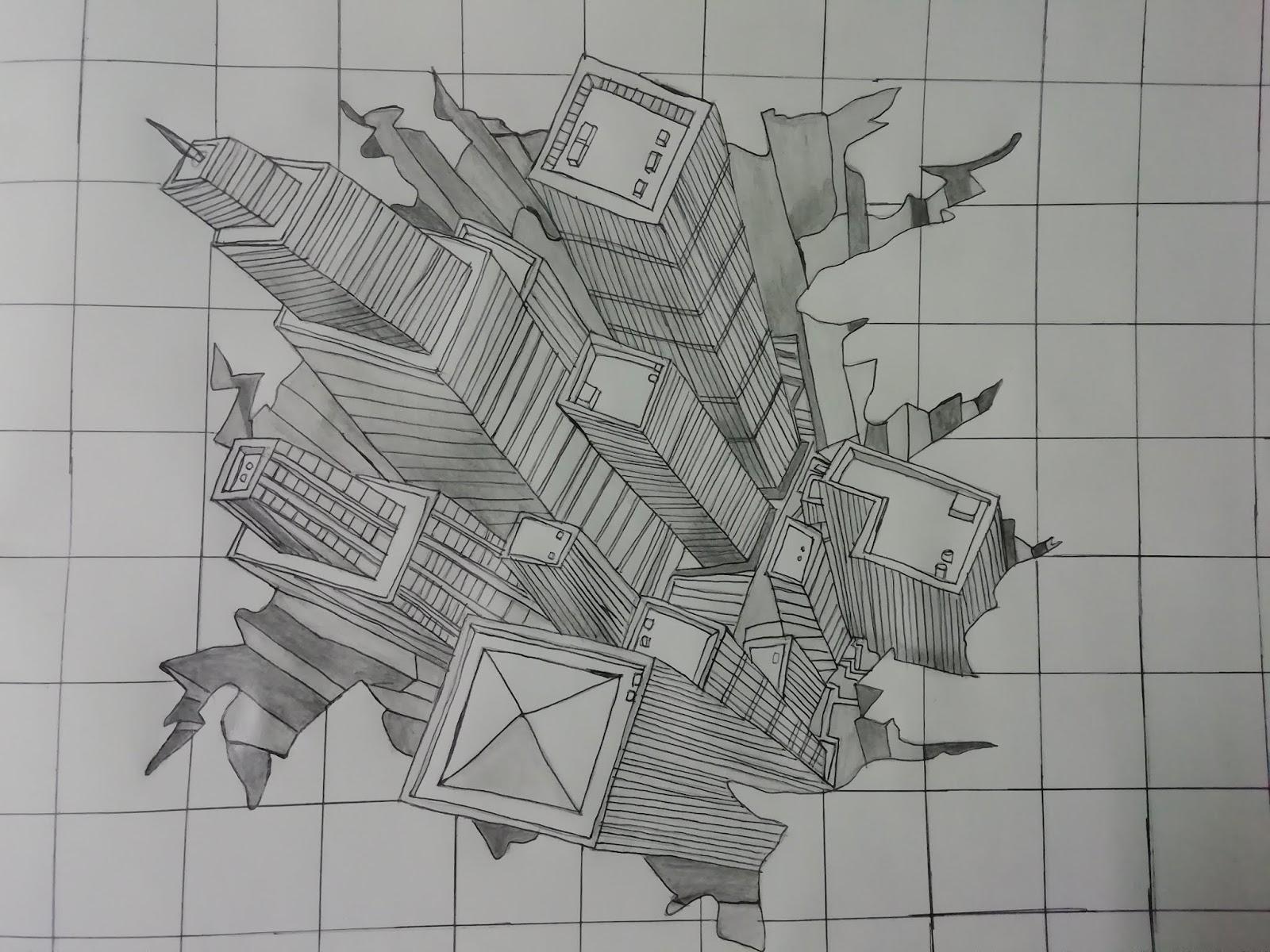 3d pencil sketch