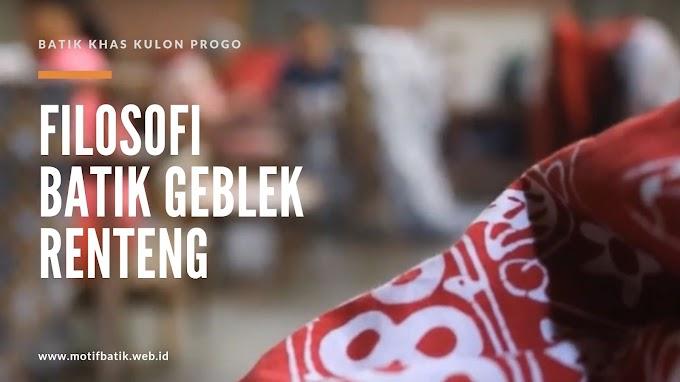 Filosofi dan Sejarah Batik Motif Geblek Renteng dari Kulon Progo