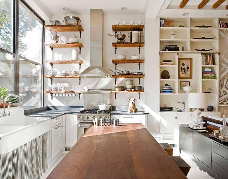 Desain Rak Dapur Terbuka Dan Kabinet Modern