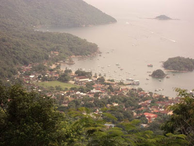 vila de abraão, vista, ilha grande, curva da morte, estrada dois rios