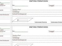 Kwitansi Kosong Ms Word dan Excel