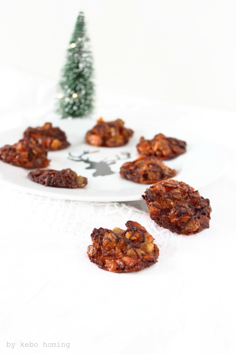 Mini Florentiner Plätzchen, cookies, Weihnachtsbäckerei, Rezept auf dem Südtiroler Food- und Lifestyleblog kebo homing, foodstyling & photography