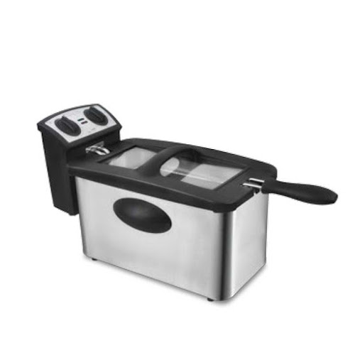 OX-989N NEW Single Deep Fryer Oxone 3 Lt - 2000Watt  title=