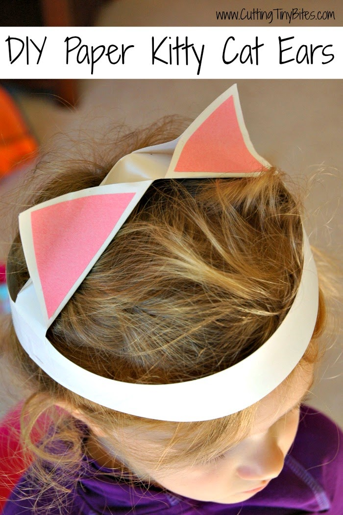Paper Kitty Cat Ears Craft for Kids- Simple and cute!