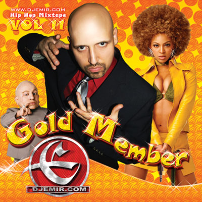 Austin Powers Goldmember Mixtape Cover Design