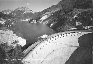 The Vajont Dam, pictured before the disaster of 1963, was considered a triumph of  engineering.