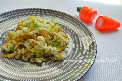 foto Ricetta riso basmati con verdure julienne per bambini