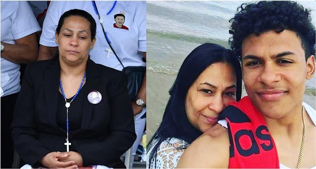 Leandra Feliz, madre de Junior aplaude el arresto de doceavo sospechoso y asegura que los pandilleros que cercaron a su hijo para asesinarlo eran 17.