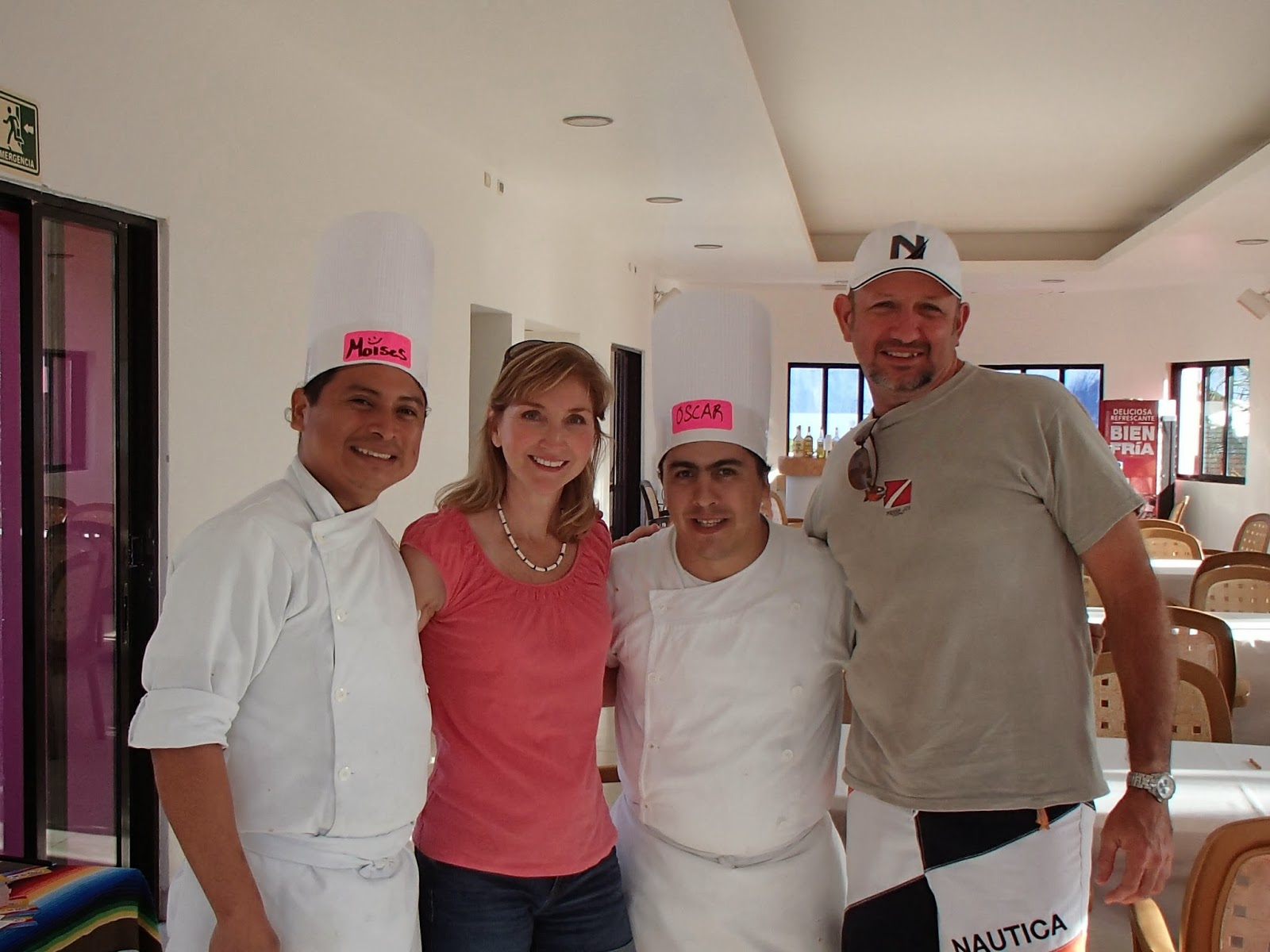 with Chefs Moises and Oscar