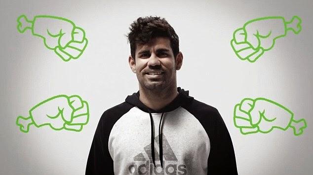 Diego Costa, uno de los protagonistas de la segunda fase de #therewillbehaters de adidas
