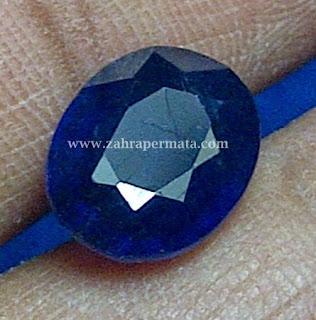 Batu Permata Royal Blue Saphire + Memo - ZP 405