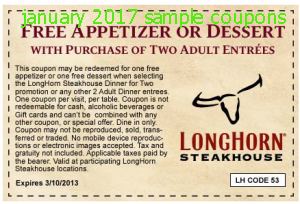 Longhorn Steakhouse Coupons