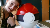 Library Associate Jennifer Smith and Poke Ball