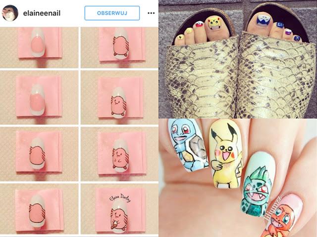 jak namalowac pokemony na paznokciach