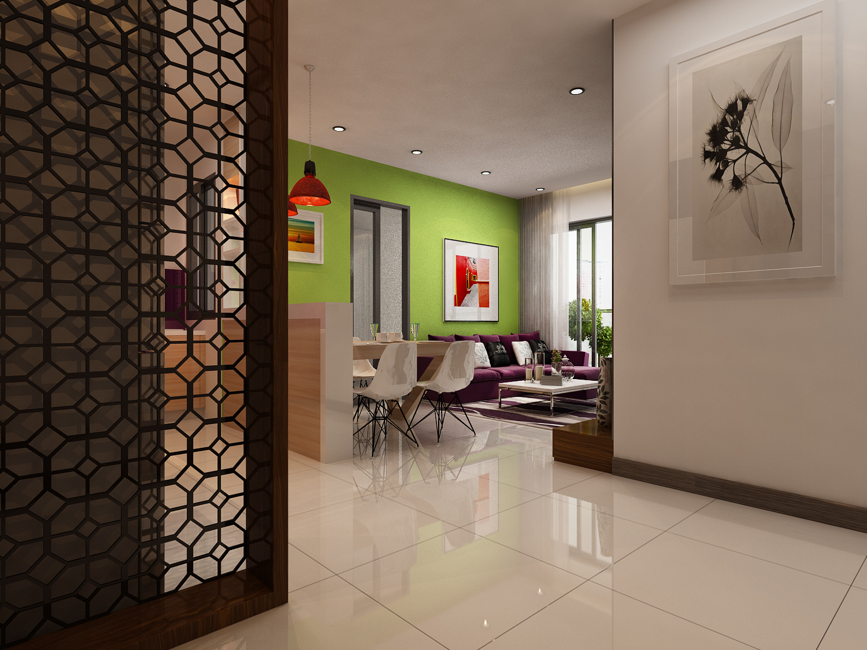 phòng khách căn hộ B1 - xigrandcourt