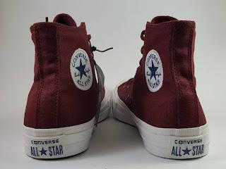 Sepatu Converse Chuck Taylor II Premium high maroon, jual  converse ct 2, harga converse ct 2 premium, converse terbaru, converse lunarlon, converse basket
