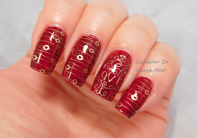 Potion Polish Cranberry Fizzy + uberchic beauty love and marriage