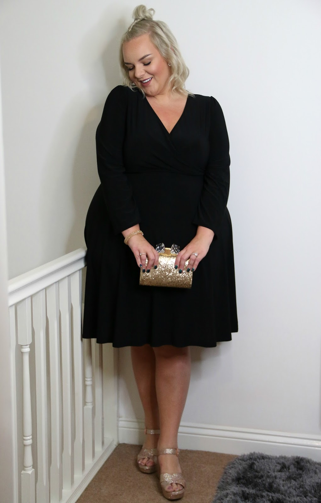 The Lady Voluptuous Black Lyra Dress from Yours Clothing on UK Plus Size Blogger WhatLauraLoves