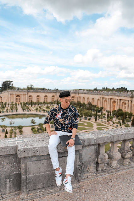 Leo Chan at the Gardens of the Palace of Versailles Paris