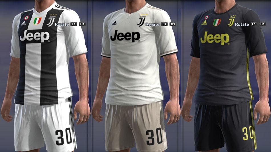 081d70463e2 PES 2013 Juventus Full GDB Kits 2018-2019