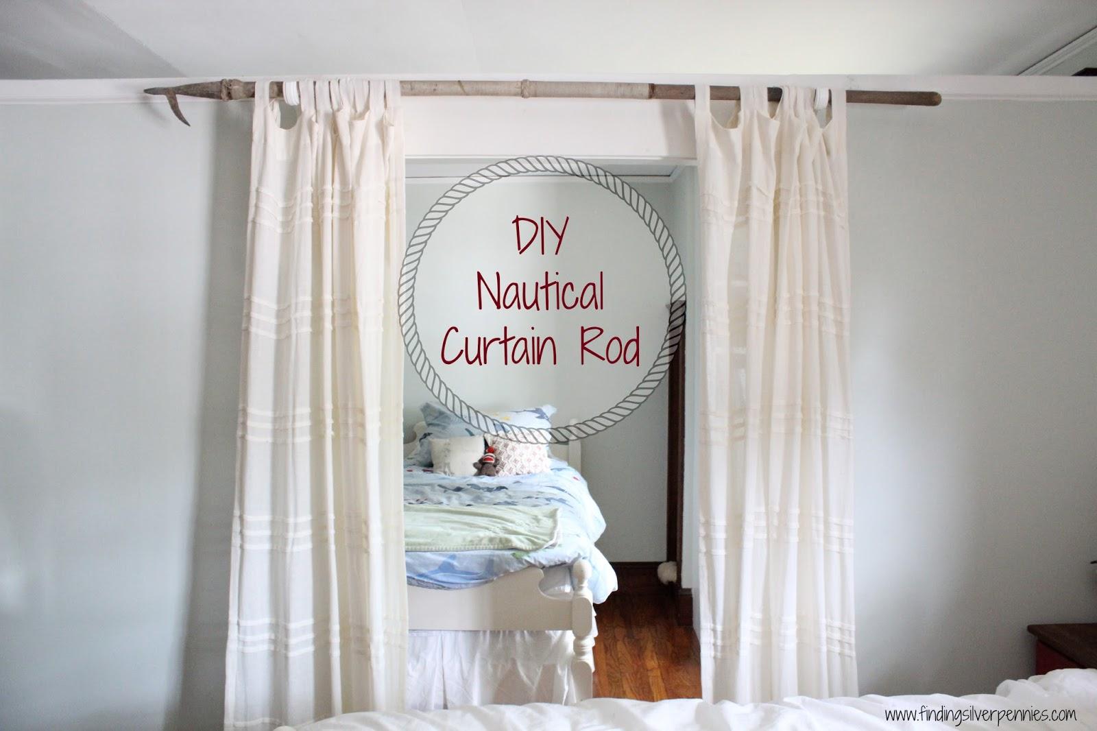 Nautical curtain rod finials - Diy Curtain Rod Finding Silver Pennies