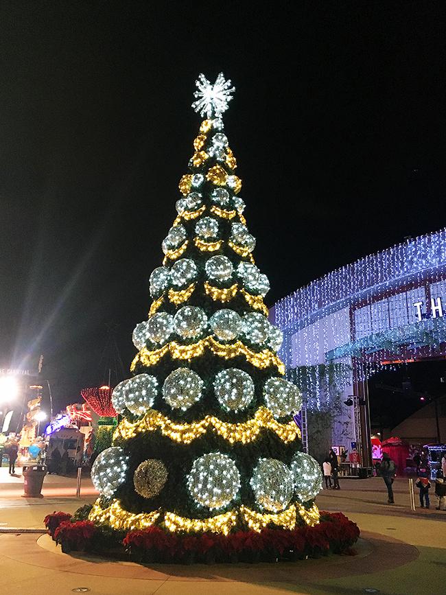 Christmas Tree at Winter Fest OC in Costa Mesa, Calif.