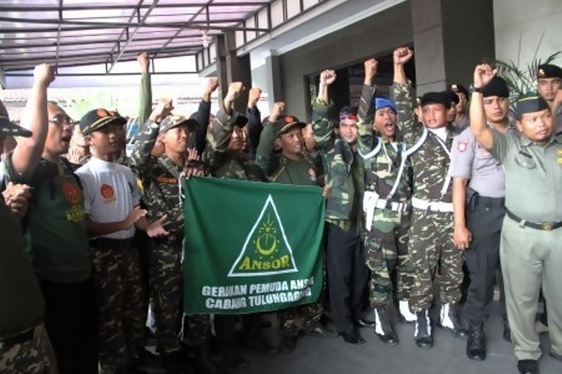 Memanas, Ratusan anggota GP Ansor ancam geruduk markas Ahok