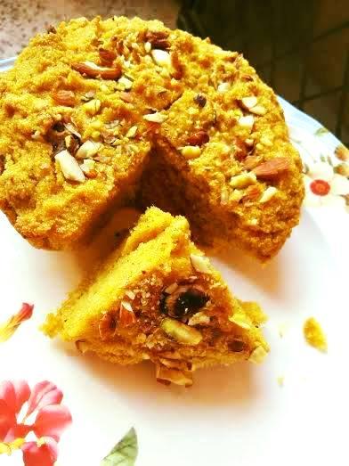Suji mango cake in cooker easy semolina cake recipe without egg suji mango cake eggless forumfinder Choice Image