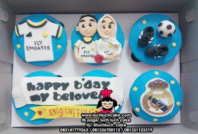Cupcake 2D Fondant Real Madrid