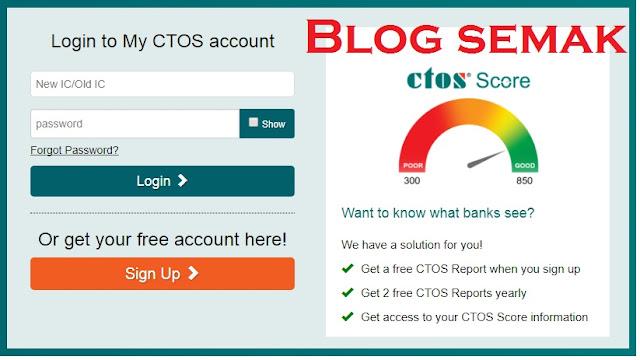 Semak Nama Blacklist Bank ( CTOS ) Secara Online dan SMS