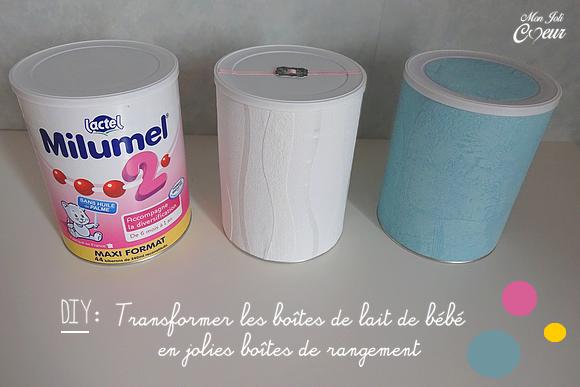 Mon joli coeur diy customiser les bo tes de lait de son b b - Customiser boite carton ...