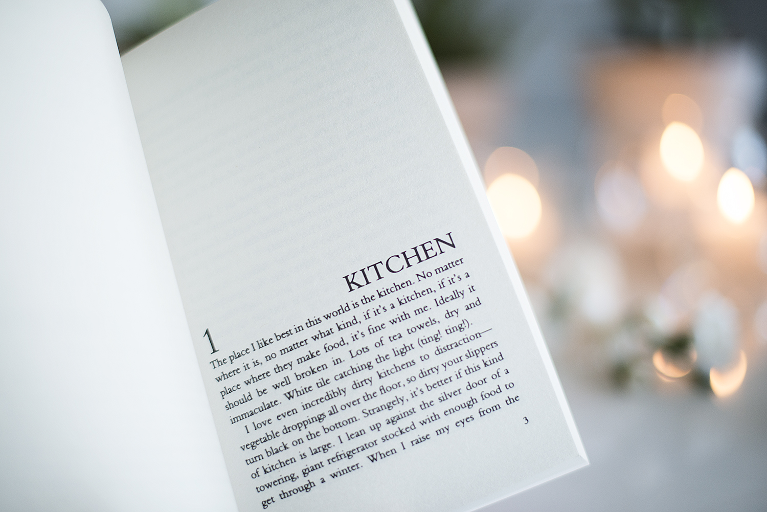 Book review kitchen by banana yoshimoto the book castle for Kitchen yoshimoto summary