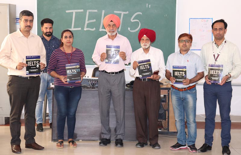 The dignitaries of Guru Kashi University during inauguration of new IELTS Centre in the campus