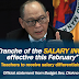 Salary Increase (4th Tranche) effective on February